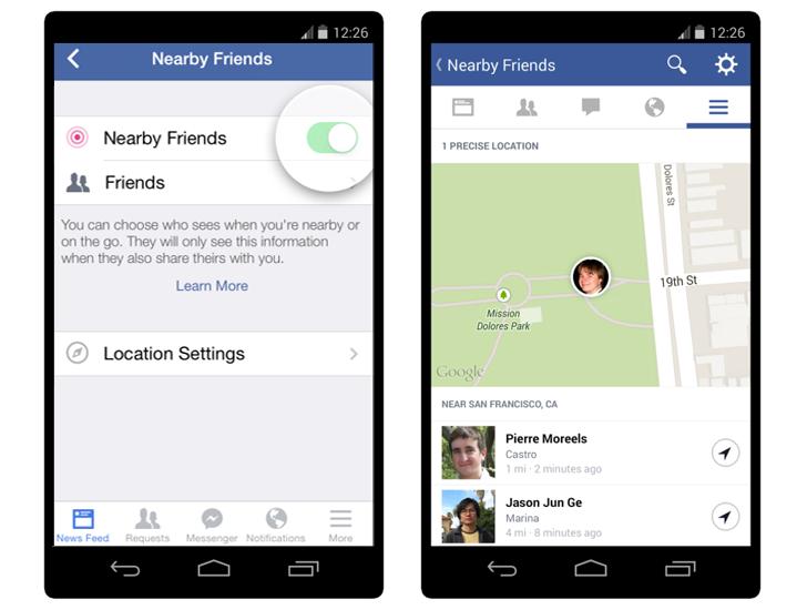 Facebook-near-by-friend-gps-location - Techweez