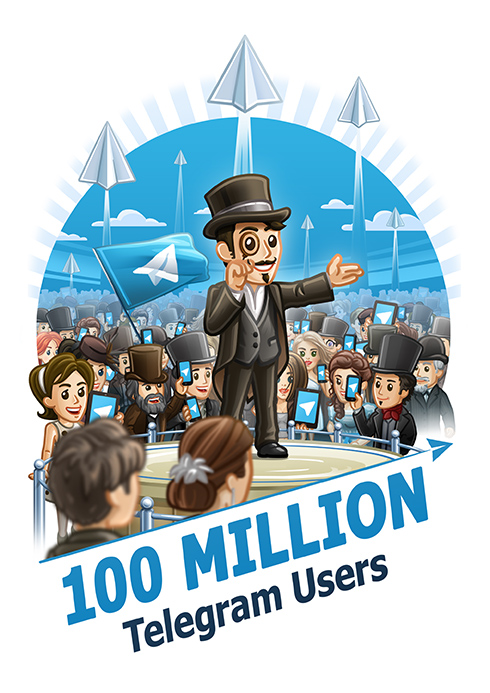Telegram Messenger 100 million users