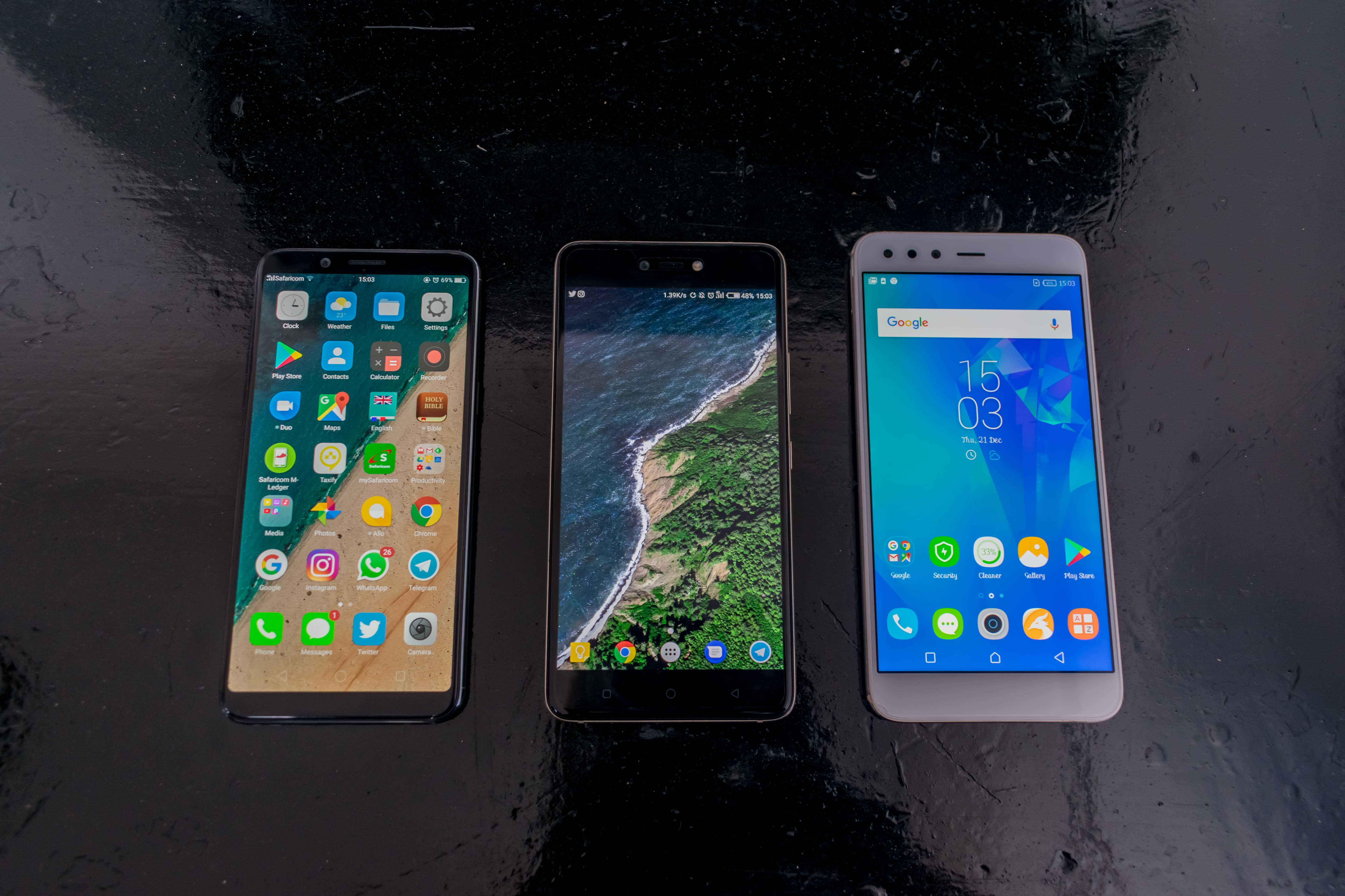 Infinix Zero 5 vs TECNO Phantom 8 vs OPPO F5 - Techweez